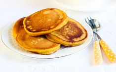 These flourless sweet potato pancakes are almost sweet enough without maple syrup, ALMOST!