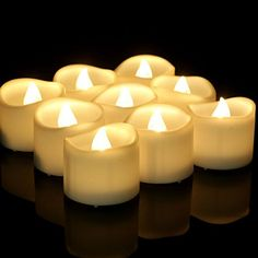 Electric Flameless Candles Wave Open Realistic Battery Operated LED Tea Lights Candle for Christmas Seasonal Flameless Candles With Timer, Tea Light Candles, Light Decorations, Christmas Decorations, Online Lighting Stores, Led Tea Lights, Festival Celebration, Christmas Lights, Rose Petals
