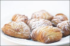 Sfogliatelli !  - was talking to my sister about these last night!  Got a craving!