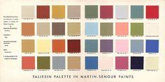 1955 Frank Lloyd Wright paint palette
