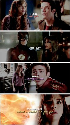 I look at you and I just love you and it terrifies me what I would do for you #Snowbarry #TheFlash