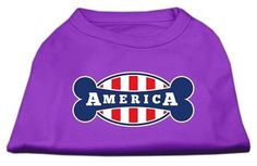 Bonely in America Screen Print Shirt Purple Lg (14)