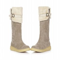 Show Shine Women's Fashion Buckle Platform Boots Tall Boots ** You can get additional details at the image link.