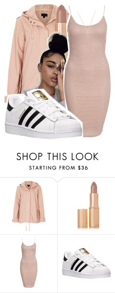 """"""""""" by lookatimani ❤ liked on Polyvore featuring Topshop, Charlotte Tilbury, New Look, adidas and Nephora"""