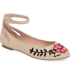 kate spade new york waren embroidered flat (Women)  87f40c17bb99