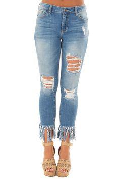 597234021eca Buy Women's Bottoms Online   Boutique. Shredded JeansPainted JeansDenim  PantsRipped JeansSkinny JeansDistressed ...
