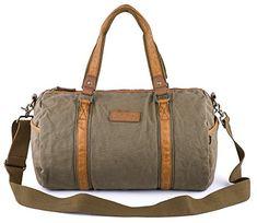 42ec6e380d Gootium Duffle Bag - Canvas Travel Duffel Weekender Shoulder Bags Gym Tote  28L Army Green Tactical