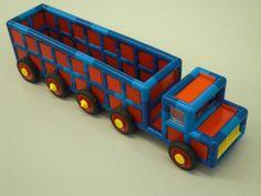 vrachtwagen van plasticant