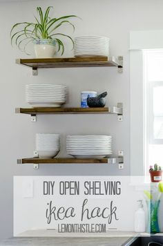 DIY Open Shelving (Ikea Hack) | Hometalk