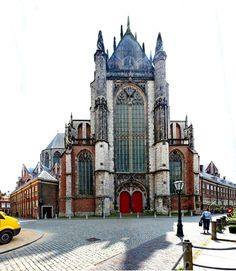 Cathedral in the city of Leiden, Netherlands