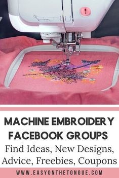 Grand Sewing Embroidery Designs At Home Ideas. Beauteous Finished Sewing Embroidery Designs At Home Ideas. Brother Embroidery Machine, Machine Embroidery Projects, Learn Embroidery, Hand Embroidery Patterns, Simple Embroidery, Embroidery Stitches, Ribbon Embroidery, Machine Applique, Brush Embroidery