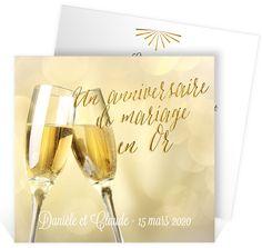invitation anniversaire de mariage pour faire la fte pour vos noces dor ref - Texte 50 Ans De Mariage Noces D Or