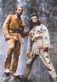 Old Shatterhand und Winnetou. Lex Barker en Pierre Brice). De schat van het Zilvermeer.