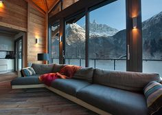 I want mountains in my backyard.... and that couch!