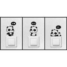 5378e6b058fc Konnektor matrica csomag: Panda macik - KaticaMatrica.hu - A minőségi  falmatrica és faltetoválás webáruház