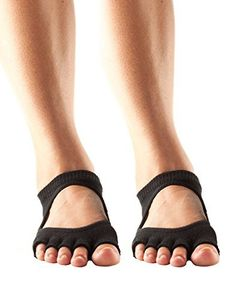 Toesox Women's Half Toe Bellarina Grip Yoga Socks 2 Pack (Black, Medium) - It was the best price by far here and it works perfectly with no issues. Grip Socks, Yoga Socks, Best Treadmill For Home, Exercise Bike Reviews, Good Treadmills, Recumbent Bike Workout, Bicycle Maintenance, Athletic Socks, Black Media
