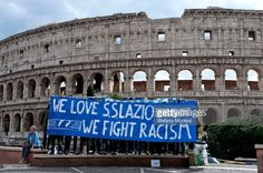 'We Love S.S. Lazio 1900 - We Fight Racism'. A group... #juvafi: 'We Love S.S. Lazio 1900 - We Fight Racism'. A group of Lazio… #juvafi