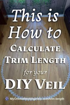 How to Make a Wedding Veil with Comb. 5 Steps! 56 Veil Diy, Diy Wedding Veil, Wedding Crafts, Wedding Gowns, Tulle Material, Veil Length, Wedding Dress Trends, Wedding Ideas, Wedding Planning Tips