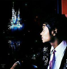 MJ gazing at Disneyland