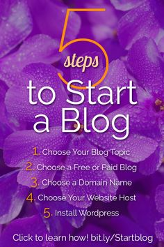 Blogging for beginners: Wondering how to start a blog? Have you been thinking about blogging for a while, but haven't started yet? Click to blog to learn the fast and easy way to start a blog with WordPress!
