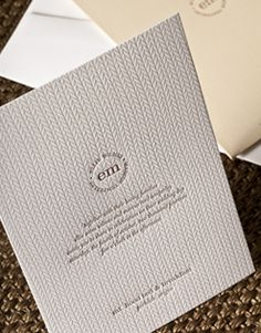 Elum designs knit wedding invitation suite, affordable letterpress invitation http://www.elumdesigns.com/letterpress/suite/affordable-letterpress-wedding-invitations-knit/208/