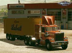 Mod trailer Fruehauf Dryvan 1951 by Selonik for ATS American Truck Simulator, Semi Trailer, Steel Wheels, New Details, New Model, Trucks, Truck, Cars