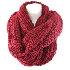"Large Chunky Yarn Knit Soft Red Infinity Scarf Retail $67 ‼️9 AVAILABLE ‼️.   ‼️️PRICE FIRM UNLESS BUNDLED‼️ This scarf is unbelievably chunky & soft & warm!  Photos do not do justice.  Deep burgundy red. Lots of stretch to get that perfect look!  Dress up any outfit day or night.  Also available in other colors.  Please check my closet for many more items including jewelry, scarves, designer clothing, handbags shoes & more!  100% polyester.  Length 23"" (unstretched)  Width 37"" Boutique…"