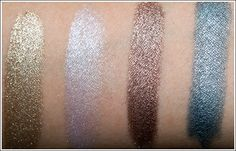 bareMinerals 'High Shine Eyecolor' - [L->R] Gold Medal, Flash, Meteorite, Vapor / Temptalia