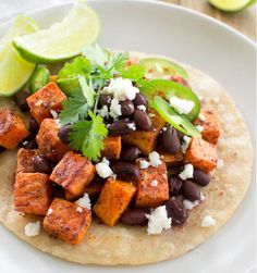 Chile Spiced Sweet Potato and Black Bean Tostadas [RECIPE]