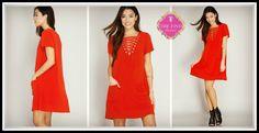 Kara Dress in Red