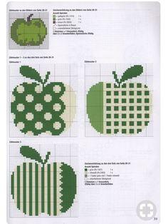 Cross Stitch Fruit, Cross Stitch Kitchen, Beaded Cross Stitch, Simple Cross Stitch, Cross Stitch Embroidery, Embroidery Patterns, Cross Stitch Patterns, Modern Quilt Patterns, Sewing Stitches