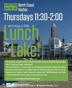 Burke Lakefront Airport - Lunch by the Lake on E.9th St. in #Cleveland, features the most famous food trucks and live music in the area!