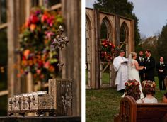 Fall wedding at Cedarwood. Photo by Dove.