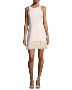 e621d56d18 cinq a sept Catriona Sleeveless Pleated-Skirt Dress
