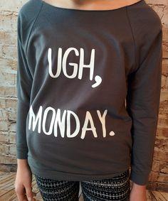 Ugh, Monday. 3/4 Sleeve Raglan (Ladies) – Rose Gold Vintage