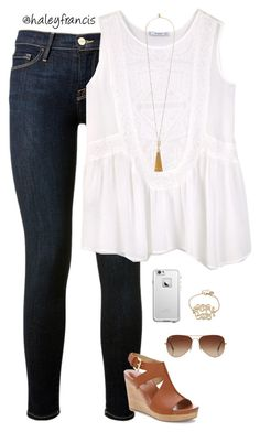"""""""Lazy day"""" by haleyfrancis ❤ liked on Polyvore featuring Frame Denim, MANGO, Vince Camuto, Me Too, LifeProof and Rayban"""