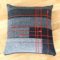 mix of grey tweeds Diy Cushion, Cushion Covers, Pillow Covers, Patchwork Cushion, Quilted Pillow, Embroidered Cushions, Wool Pillows, Throw Pillows, Car Seat Pillow