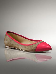 need these tan and pink flats!  from talbots