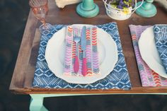 A bright, modern tablescape | Featured on paperandlace.com | Vintage Furniture Hire | www.borrowandbeau.co.nz | Furniture and Styling: Borrow and Beau | Photography: PoppyMoss Photography