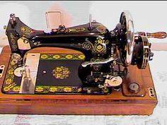 Vesta Hand Crank Sewing Machine RARE Decal Set Sews VG   eBay