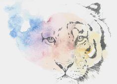 Rainbow Tiger Art Print