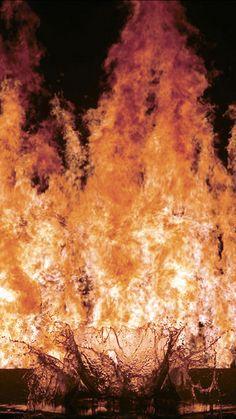 Bill Viola - The fire woman Samhain, Bill Viola, 2 Bill, Air Fire, Different Kinds Of Art, Video Artist, Light My Fire, A Level Art, All Nature