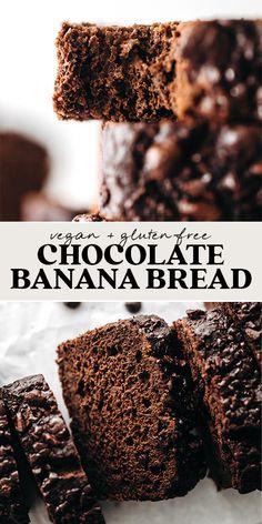 Healthy Chocolate Snacks, Healthy Sweet Treats, Chocolate Treats, Vegan Chocolate, Banana Recipes, Snack Recipes, Dessert Recipes, Vegan Sweets, Vegan Desserts