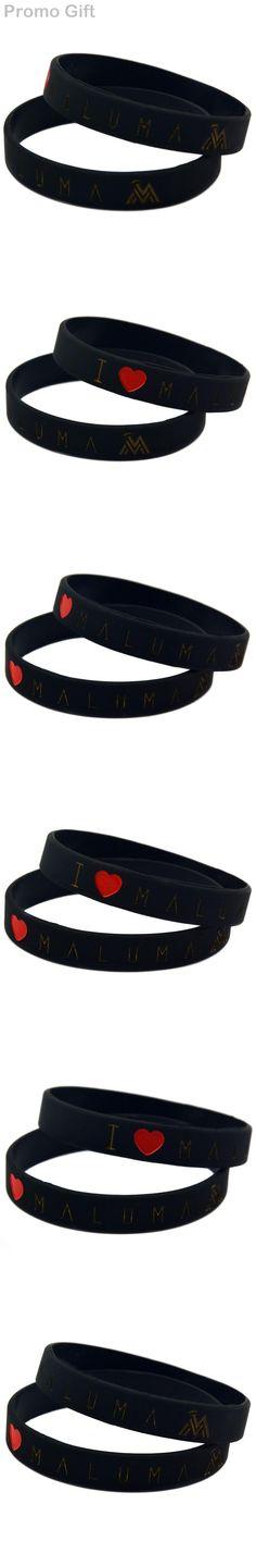 Promo Gift 1PC I Love Maluma Silicone Bracelet For Music Fans