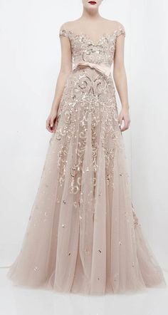 Zuhair Murad embellished gown // The Wedding Scoop Spotlight: Sparkly Wedding Dresses - Part 2 Evening Dresses, Prom Dresses, Formal Dresses, Wedding Dresses, Sparkly Dresses, Zuhair Murad, Beautiful Gowns, Beautiful Outfits, Mode Glamour
