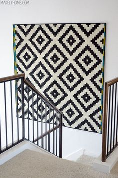 Framed textile - rug-on-wall.jpg - Makely Home - @ end of hallway/focal points