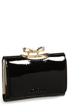 Ted Baker London 'Small' Crystal Bow Wallet | Nordstrom