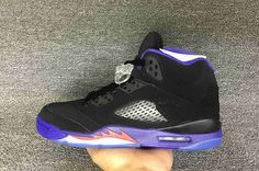 "Air Jordan 5 Retro ""Raptors"" Black/Ember Glow-Fierce Purple For Sale"