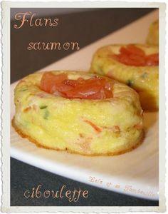 Petits flan de saumon et ciboulette (2)