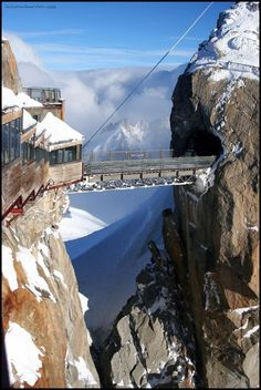 du Midiin Chamonix, the highest point in Europe - it's just my opinion...but I don't think I am walking across...